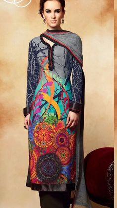 Gul Ahmed printed lawn with chiffon dupatta