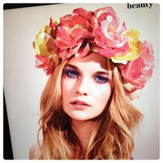Flower crowns pack a punch when they're big.