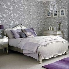 Home Decor: Go Glam With Modern and Vintage Silver Furniture. Silver furniture is the perfect way to go glam and add a royal feel to any. Dream Bedroom, Home Bedroom, Bedroom Furniture, Bedroom Decor, Bedroom Ideas, Pretty Bedroom, Bedroom Inspiration, Master Bedroom, Bedroom Designs