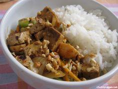 Legumes e Tofu agridoce