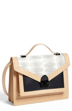 Loeffler Randall 'Rider' Leather Satchel available at #Nordstrom