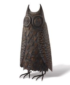 This Charcoal Hoot Owl Figurine is perfect! #zulilyfinds