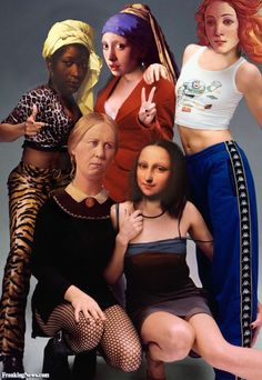 Old Painting Characters Spice Girls