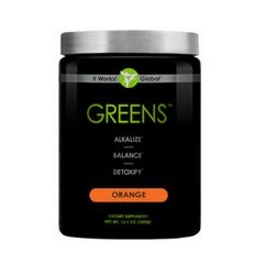 Detoxify, alkalize, and promote pH balance within the body Acidity-fighting magnesium and potassium blend Cutting-edge probiotic support for digestive health 38 herbs and nutrient-rich superfoods 8+ servings of fruits and vegetables in every scoop Free radical-fighting antioxidants Tangy orange flavor New larger size for three times the Greens!