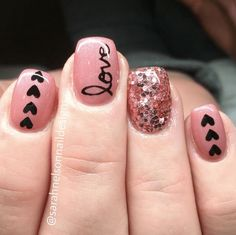 28 Amazing Nails Art Ideas For Valentines Day * remajacantik Nägel rosa Acryl 28 Amazing Nails Art Ideas For Valentines Day 19 Gorgeous Nails, Love Nails, Pretty Nails, My Nails, Amazing Nails, Heart Nails, Amazing Art, Fabulous Nails, Valentine's Day Nail Designs