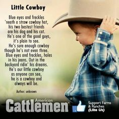 Little Cowboy.... Chis ledoux :) love tho song
