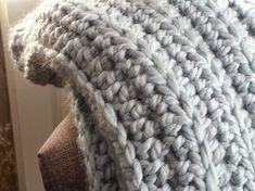 Crochet Afghans, Afghan Crochet Patterns, Baby Blanket Crochet, Crochet Stitches, Crochet Baby, Chunky Crochet Blanket Pattern Free, Chunky Crochet Blankets, Modern Crochet Blanket, Patchwork Blanket