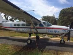 Caravan Pilots: Caravan vandalized at Skydive Byron Bay Australia. Visit site for article.