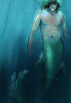 Now that I am looking at Mermen I am thinking the perhaps we should fabricate a flowy fin or two that is similar to a beta fish's to attach with latex to the sides of his legs.