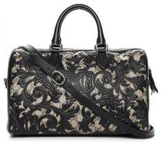 41a25afd8 Gucci Boston Linea Arabesque Black Leather Satchel. Save big on the Gucci  Boston Linea Arabesque. Tradesy