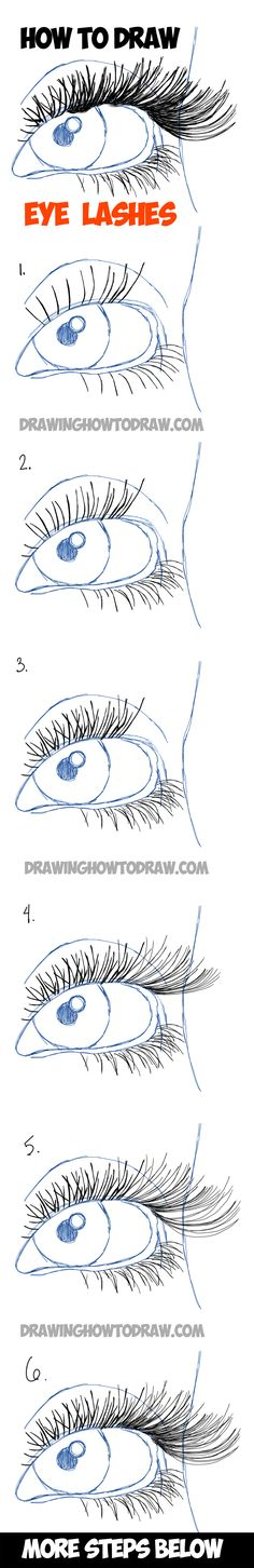 Learn How to Draw Eye Lashes with Step by Step Illustrated Tutorial