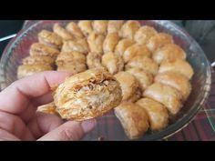 📣TEK BEZE İLE 40 KAT DİLBER DUDAĞI BAKLAVA👌OKLAVASIZ‼Tüm püf noktalarını anlattım👌 - YouTube Fudge, Graham, Deserts, Muffin, Food And Drink, Make It Yourself, Breakfast, Play 1, Youtube