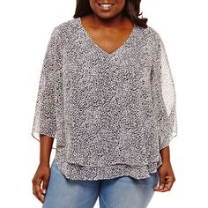 74011778de8e0 Shirts + Tops for Women - JCPenney · Shirt BlousesShirtsTypes Of  SleevesFloral BlouseStreet StylesTunic TopsBoutiquePlus SizeV Neck