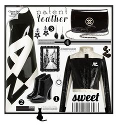 """""""Patent Leather"""" by gianna-pellegrini ❤ liked on Polyvore featuring By Lassen, Anthony Vaccarello, Courrèges, Chanel, Giuseppe Zanotti, Lafonn and patentleather"""