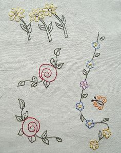 Flowers No3 Hand Embroidery Pattern by PDF por Stitchingalways
