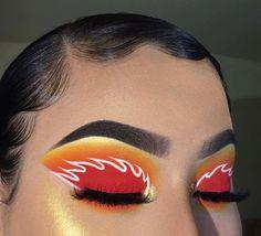 Image about white in Make up by Asli on We Heart It Makeup Eye Looks, Eye Makeup Art, Crazy Makeup, Cute Makeup, Glam Makeup, Pretty Makeup, Eyeshadow Makeup, Skin Makeup, Yellow Eyeshadow