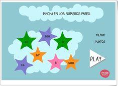 """""""Pincha en los números pares"""" (Juego de Matemáticas de Primaria) Maths Area, Learning Numbers, Math Games, Teaching Resources, Dots"""