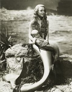 cute old timey mermaid picture (:
