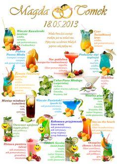 Cocktail Recipes, Cocktails, Fairytale Party, Dream Wedding, Wedding Day, Beach Drinks, Diy Bar, Impreza, Gastronomia