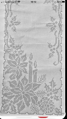 Holiday Crochet, Thread Painting, Christmas Cross, Filet Crochet, Doilies, Color Patterns, Needlepoint, Hand Embroidery, Projects To Try