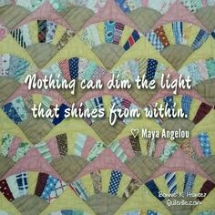 Stars shine the brightest when the night is the darkest. Even a tiny light can be seen a long way away. Shine! Vintage fan quilt found in North Carolina. ... #quilt #quilting #patchwork #quiltville #bonniekhunter #vintagequilt #antiquequilt #deepthoughts #wisewords #wordsofwisdom #quiltvillequote
