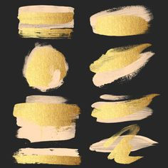 Gold Brush Strokes Clipart peach & gold metallic от ItGirlDigital