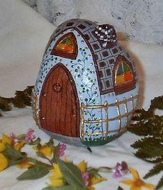 Light Blue Rock Fairy Houses   Flickr - Photo Sharing!