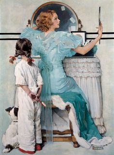 Norman Rockwell's Timeless Paintings. My Modern Metropolis. Woman At the Vanity