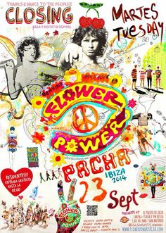 Pacha Ibiza Ibiza Clubs, Club Poster, Hippie Style, Beautiful Beaches, Peace And Love, Flower Power, Spain, Island, My Favorite Things