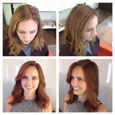Cinnamon spice vibrant red hair color tones for fall by Joanna Gonzalez