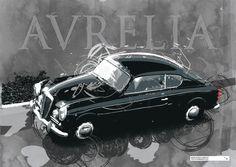 Lancia Aurelia B20 GT limited edition print - available on www.fuelledgraphics.com