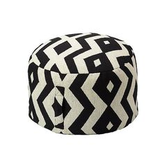 Versatile Outdoor Decor – this pouf adds the perfect graphic pop