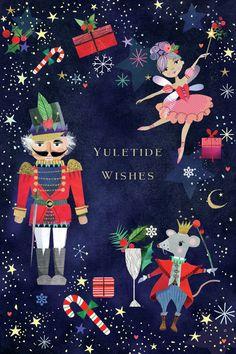 Leading Illustration & Publishing Agency based in London, New York & Marbella. Christmas Poster, Christmas Mood, Christmas Design, Christmas Wishes, Christmas Greetings, Christmas Themes, Vintage Christmas, Christmas Crafts, Christmas Ornaments