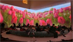 Pipilotti Rist, Tiptoe by the Tulips (or Stretch by the Apples) at MoMA 2008