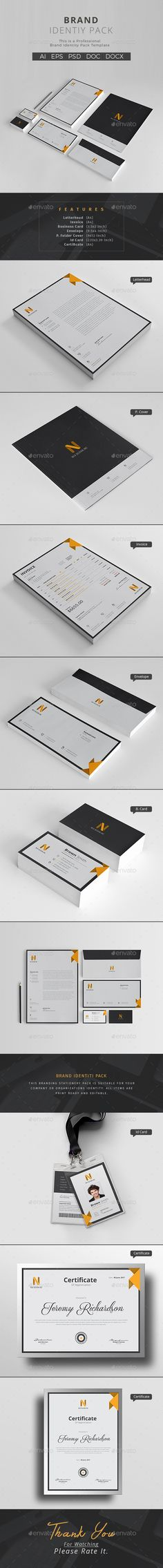Corporate Identity Template PSD, AI Illustrator
