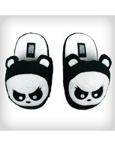 Angry Panda Adult Slippers