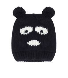 Black Panda Hat - Winter Warmers - up to 60% off