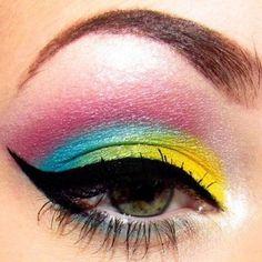 Another rainbow makeup