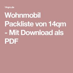 Stunning Wohnmobil Packliste von qm Mit Download als PDF