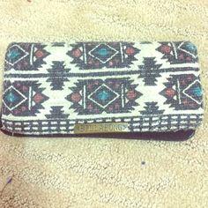 Tribal print Billabong wallet Tribal print Billabong wallet, durable, LOTS of pockets, super cute :) Billabong Bags Wallets
