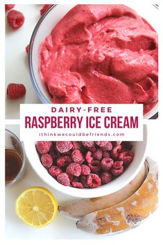 Raspberry Recipes Healthy, Raspberry Desserts, Summer Desserts, Healthy Smoothies, Healthy Desserts, Summer Recipes, Healthy Ice Cream, Vegan Ice Cream, Lactose Free Ice Cream