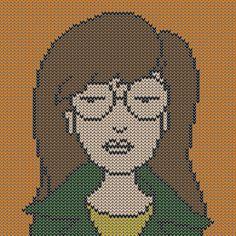 Daria, minecraft, and Bob's Burgers! I'm in cross-stitch heaven! -kk