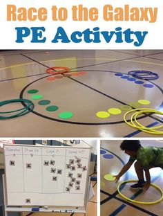 PE Teacher Mike Ginicola shares this activity called Race to the Galaxy, a cooperative game for both PE and Active Play. Perfect timing for the new StarWars movie coming out soon! Physical Education Activities, Elementary Physical Education, Pe Activities, Health And Physical Education, Movement Activities, Activity Games, Gym Games For Kids, Exercise For Kids, Fitness Games For Kids