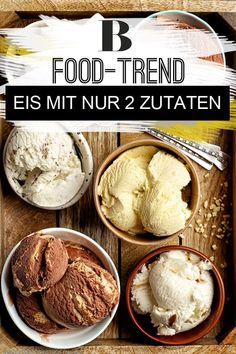 Make ice cream yourself without an ice cream maker - with only 2 ingredients! - Make ice cream yourself without an ice cream maker. Tasty Ice Cream, Milk Ice Cream, Healthy Ice Cream, Ice Cream Maker, Ice Cream Recipes, Mint Chip Ice Cream, Chocolate Chip Ice Cream, Biscuit Oreo, Smoothie Popsicles