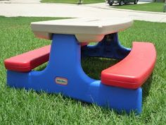 Picnic Table Redo   Paint Plastic Totally Making The Kids A Husker Table  For Parties This