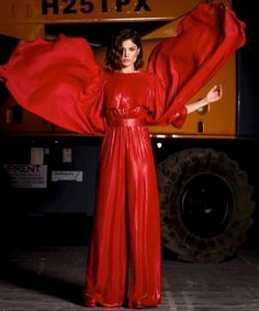 🔥Hot Mairi Synatsaki in Stelios Koudounaris at Madwalk 2018. Styling Aris Georgiadis, hair Spyros Samoilis, make up Gogo Nikiforaki. _ xamamclothes.com _ #xamamphilosophytowear #chania #madwalk18 #stelioskoudounaris #ss18 #mairiboo #red #liquid #hostess #fashionshow #jumpsuit #newcollection Pant Jumpsuit, How To Look Better, Overalls, Fashion Show, Leather Jacket, Photo And Video, Formal Dresses, Celebrities, Choices