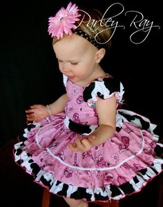 Pink Cowgirl Dress for Pageants and Birthday's by ArisAngels, $95.00