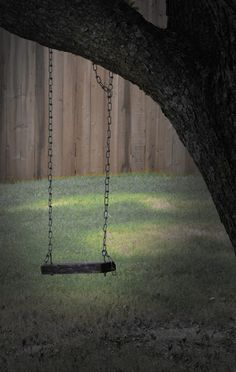 It is the absence of something, most of the time something we took for granted for a long time before we realize it's gone. The swing se. Swing Photography, Loneliness, Porch Swing, Outdoor Furniture, Outdoor Decor, Good Times, Wattpad, Sadness, Projects