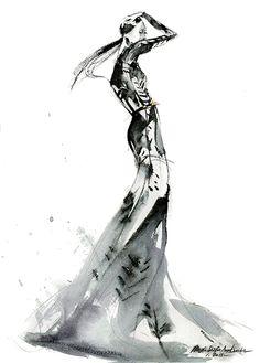 Fashion Illustration - stylish fashion sketch // Mengjie Di