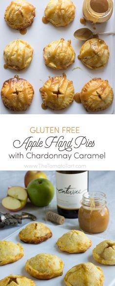 These gluten free apple hand pies with Chardonnay caramel is a sexy grown up version of those sticky sweet hand pies you grew up with!